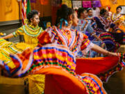 Vancouver Ballet Folklorico performs during a Dia de los Muertos celebration at the Vancouver Community Library in 2019.