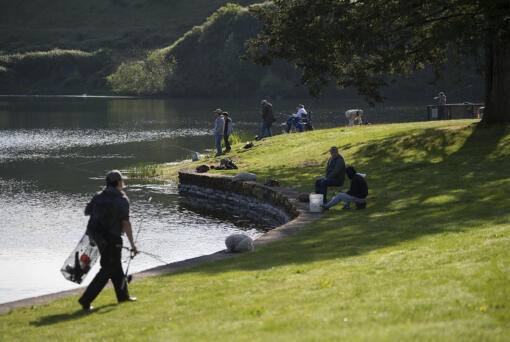 Klineline Pond is closed to swimming and wading due to E. coli bacteria levels in the water.