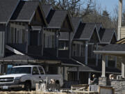 Houses under construction in Camas.