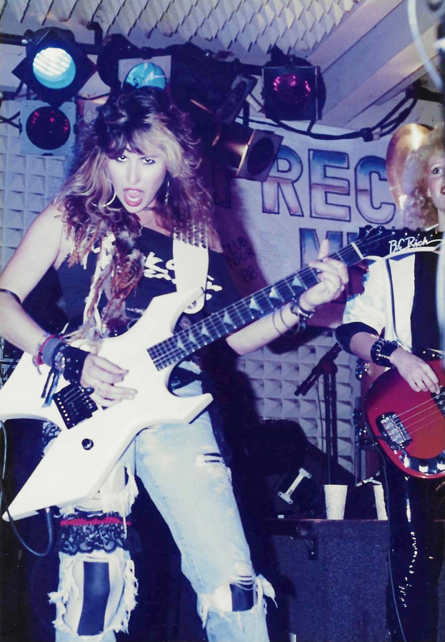 Mara Fox playing a live show during her days with Precious Metal.