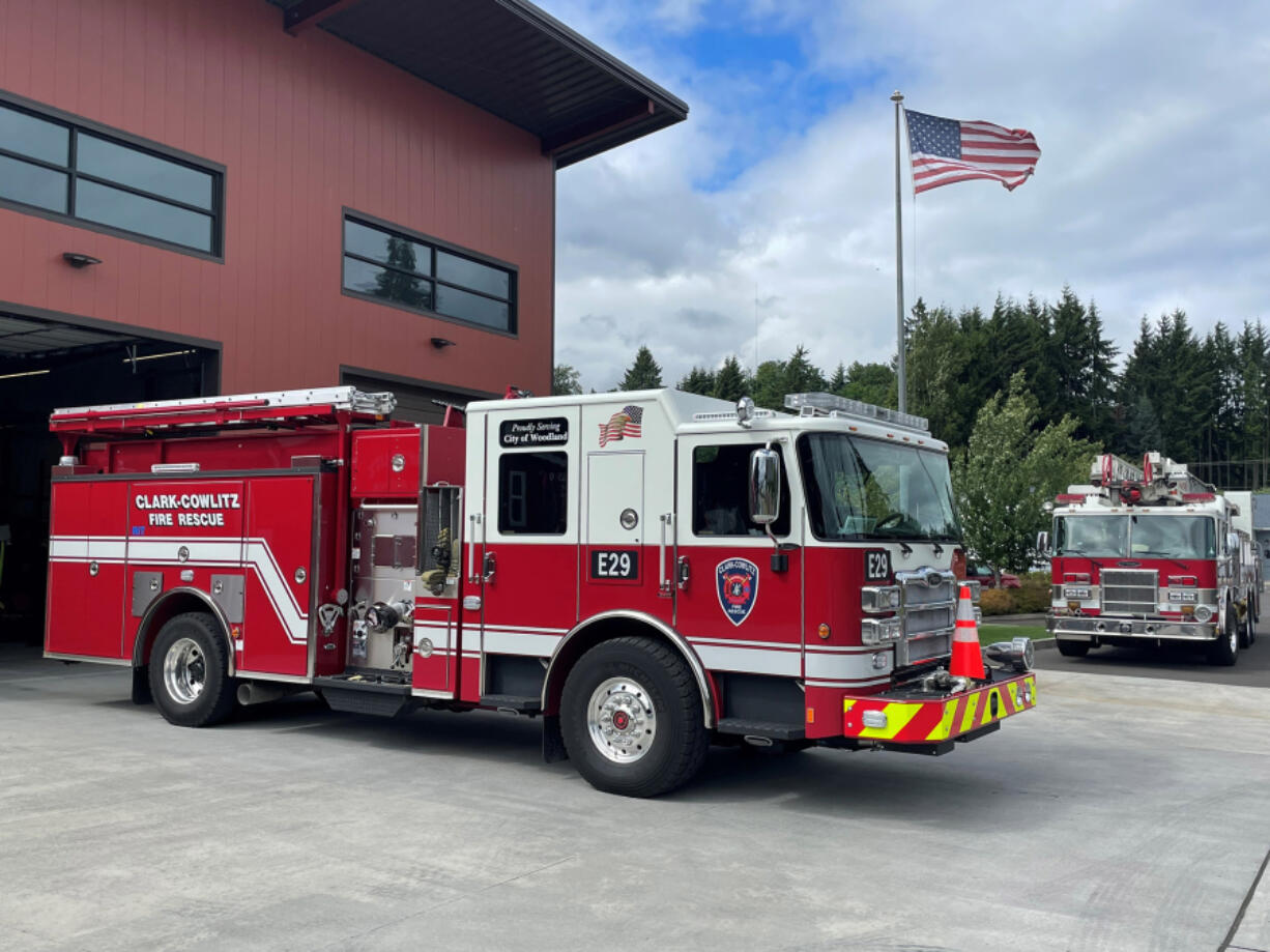 WOODLAND: Clark-Cowlitz Fire Rescue received a new fire engine at its Station 29 in Woodland.