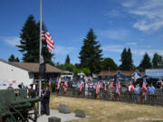 WEST MINNEHAHA: Dozens gathered for a Memorial Day observance starting at 11 a.m.