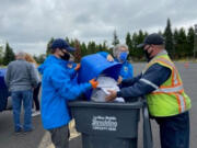 EAST MILL PLAIN: A free shredding event at the Mill Plain Methodist Church on May 22 helped the Fort Vancouver Lions Club raise more than $1,500 to support sight and hearing needs of low-income residents in Clark County.