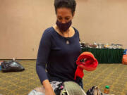 VAN MALL: Members from the National Women's Coalition Against Violence & Exploitation counted 8,700 bras for people in need at its first gathering in more than a year at The Heathman Lodge.