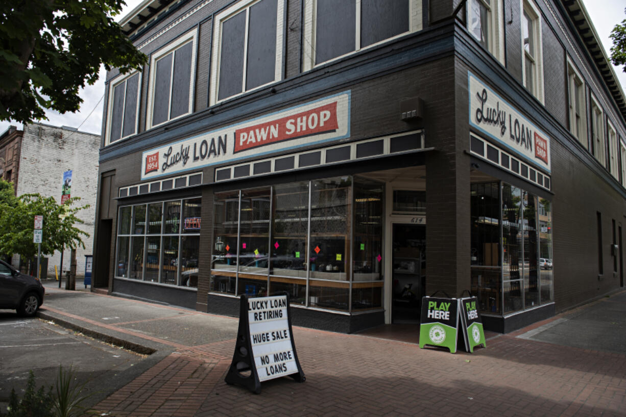 Lucky Loan, one of the last two pawnshops in downtown Vancouver, is closing this summer. Downtown was once known throughout the Portland area for its large cluster of pawnshops and cardrooms.