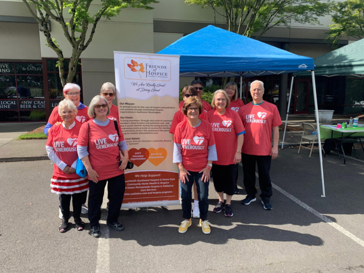 COLUMBIA WAY: More than 100 people participated in a 5K fundraiser for the nonprofit organization Friends of Hospice Southwest Washington on June 12.