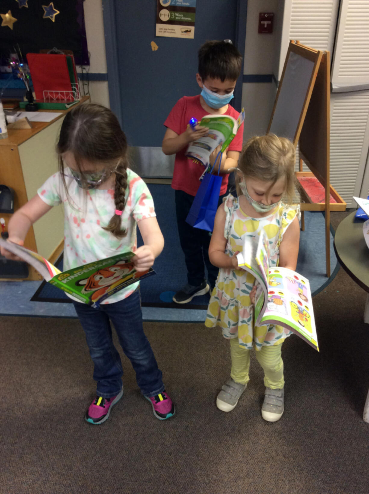 """WASHOUGAL: Thanks to community support, pre-K students received a """"Summer Learning, Summer Fun"""" packet to get them ready for school in the fall."""