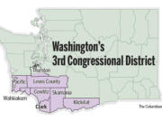 The current boundaries of Washington's 3rd Congressional District