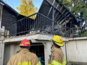 Clark County Fire District 6 responded to a house fire in Hazel Dell early Monday morning. One dog trapped in the house was saved but one died. No other residents of the home were reported injured.