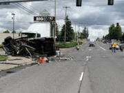 One person was killed and one was injured in a Tuesday morning crash on state Highway 503 in Orchards.