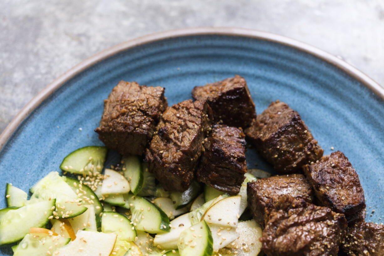 Ginger-Soy Steak With Pear-Cucumber Salad (Milk Street)
