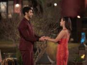 "Marcus Lathan meets Katie Thurston on the 17th season of ABC's ""The Bachelorette."" (Craig Sjodin/ABC)"