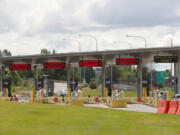 The US border entrance, normally busy, has almost all entries closed, on Wednesday, June 16, 2021.