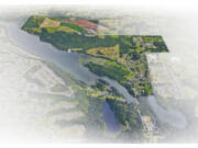 WEB ONLY An illustration shows the city of Camas? ?North Shore,? an 800-acre swath of land that extends to the Camas? northern city limits and is bordered by Lacamas Lake, Northeast 232nd Avenue and Everett Street.