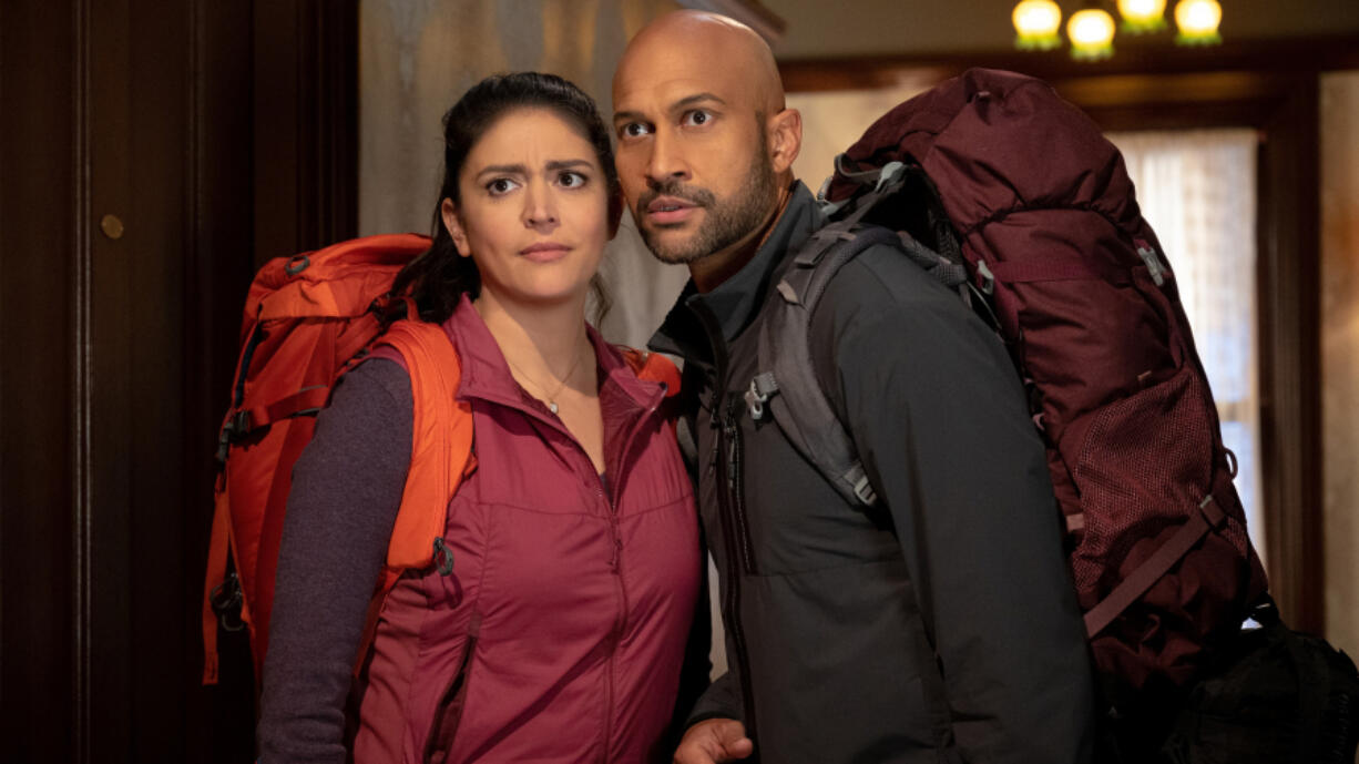 """Cecily Strong, left, and Keegan-Michael Key in """"Schmigadoon!,"""" premiering July 16 on Apple TV+."""