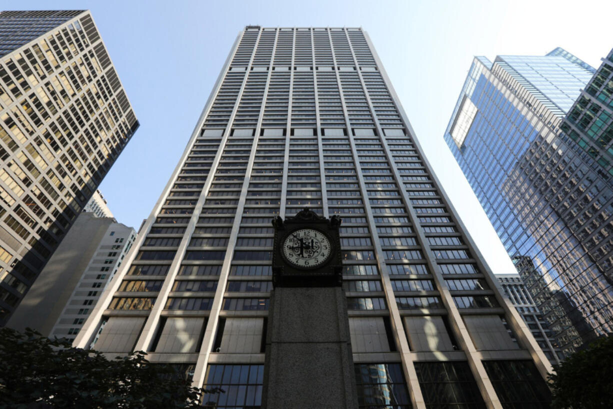 JPMorgan Chase's building, designed by C.F. Murphy Associates and Perkins & Will, opened in 1969 as First National Plaza. The 850-foot-tall tower later was named for Bank One. It became Chase Tower in 2005, after New York-based Chase acquired Bank One.(Jose M.