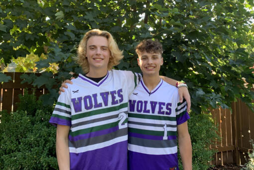 Eastyn, left, and Brady Culp were teammates for two seasons at Heritage High School. Now, the brothers will be reunited after recently commiting to play baseball at Umpqua Community College in Roseburg, Ore. (Photo courtesy of Jessy Culp)