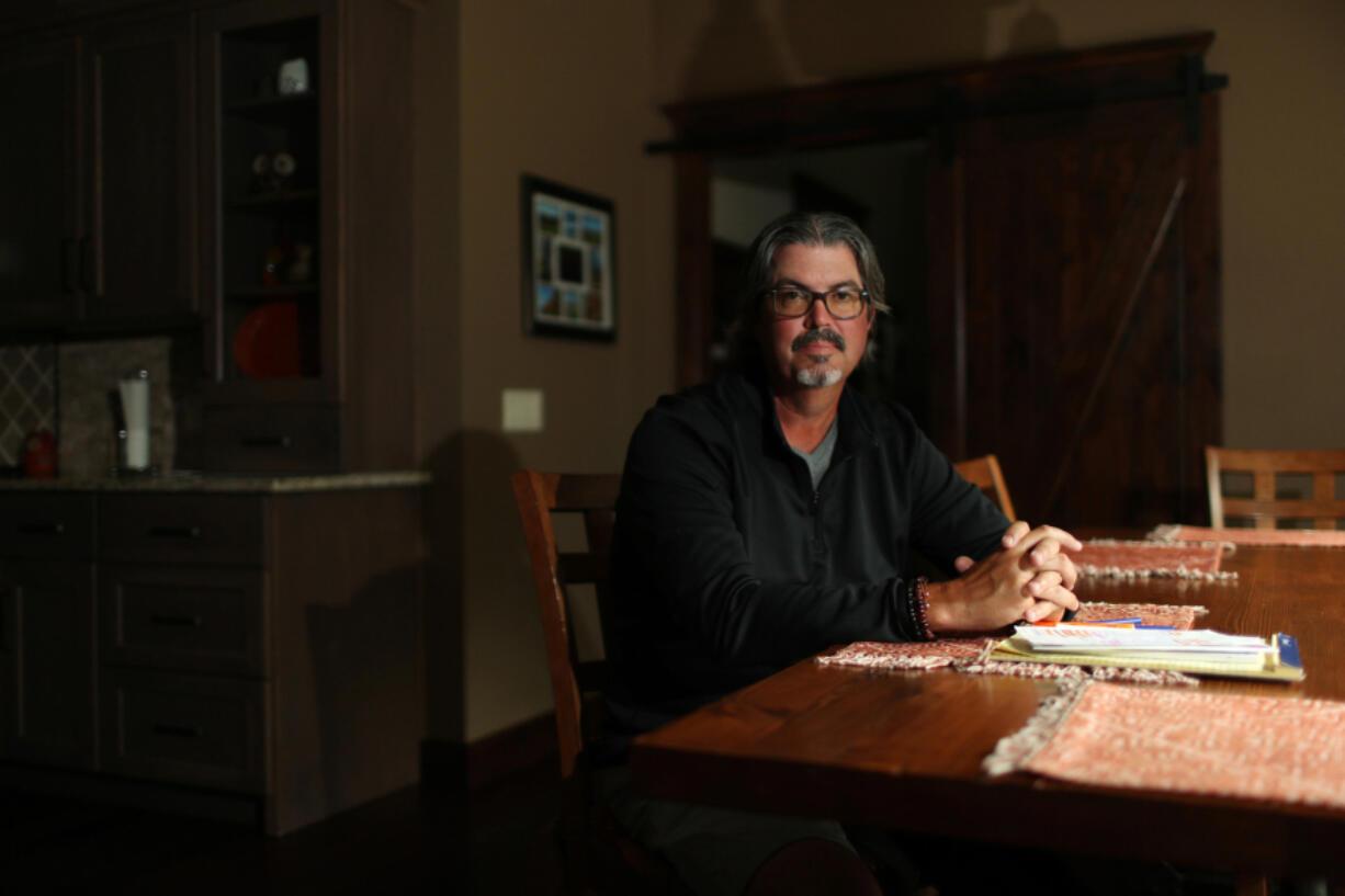 Robert Duckels in his kitchen Friday, July 9, 2021, near Carlinville, Illinois. (John J.