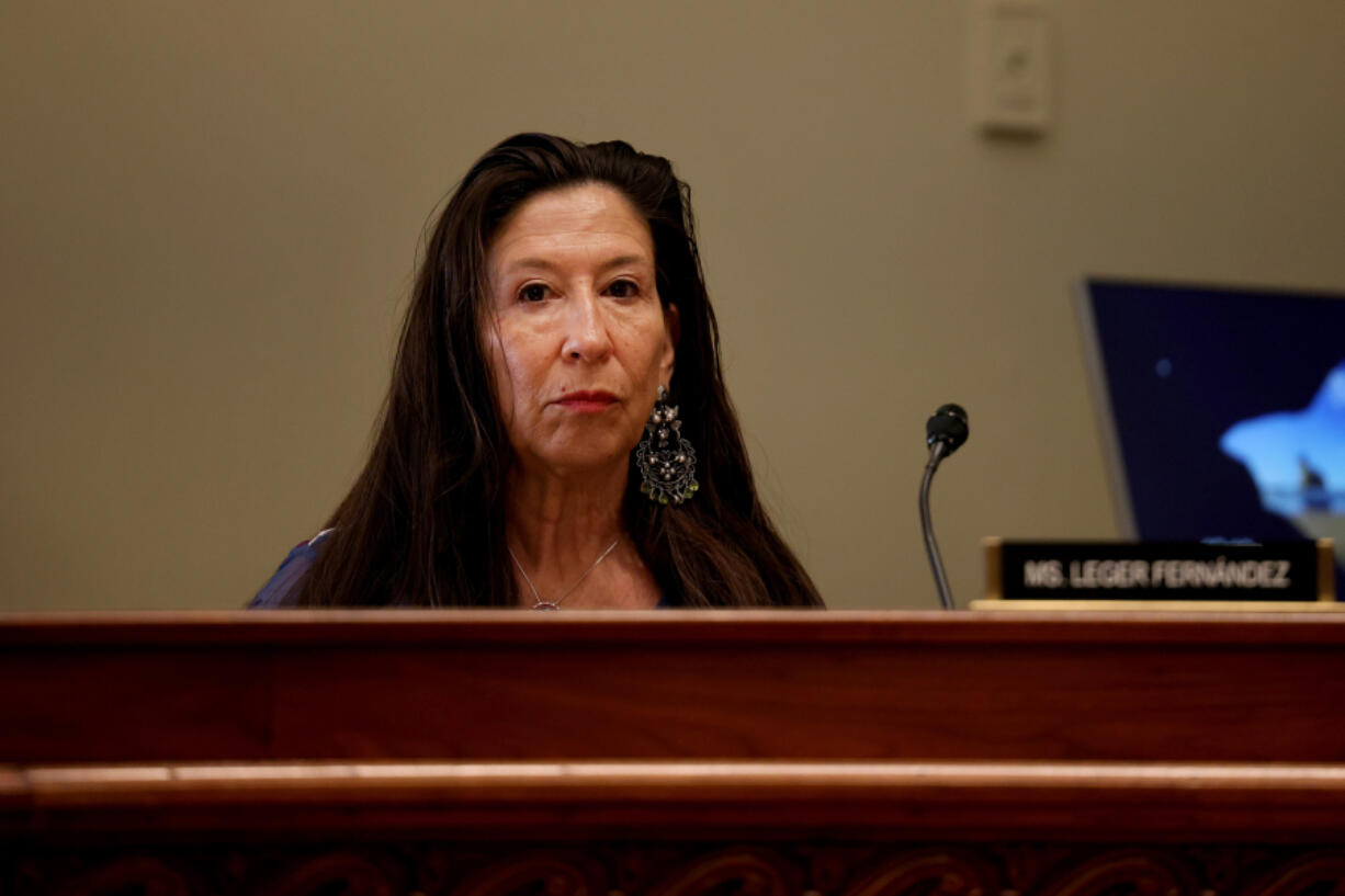 U.S. Rep. Teresa Leger Fernandez (D-New Mexico) listens at a hearing with the House Administration subcommittee on Elections on June 24, 2021 in Washington, D.C. The committee met to discuss voting rights in America.