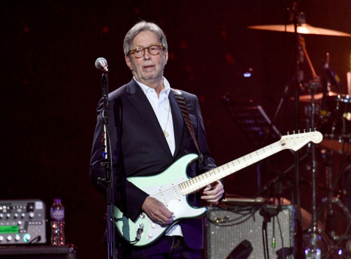 Eric Clapton performs during Music For The Marsden 2020 at The O2 Arena on March 3, 2020 in London.