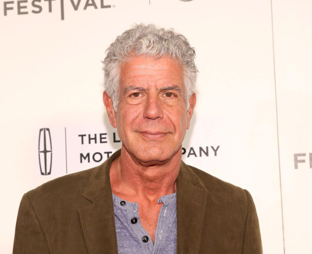 """Anthony Bourdain attends """"WASTED! The Story of Food Waste"""" Premiere during 2017 Tribeca Film Festival at BMCC Tribeca PAC on April 22, 2017 in New York City."""