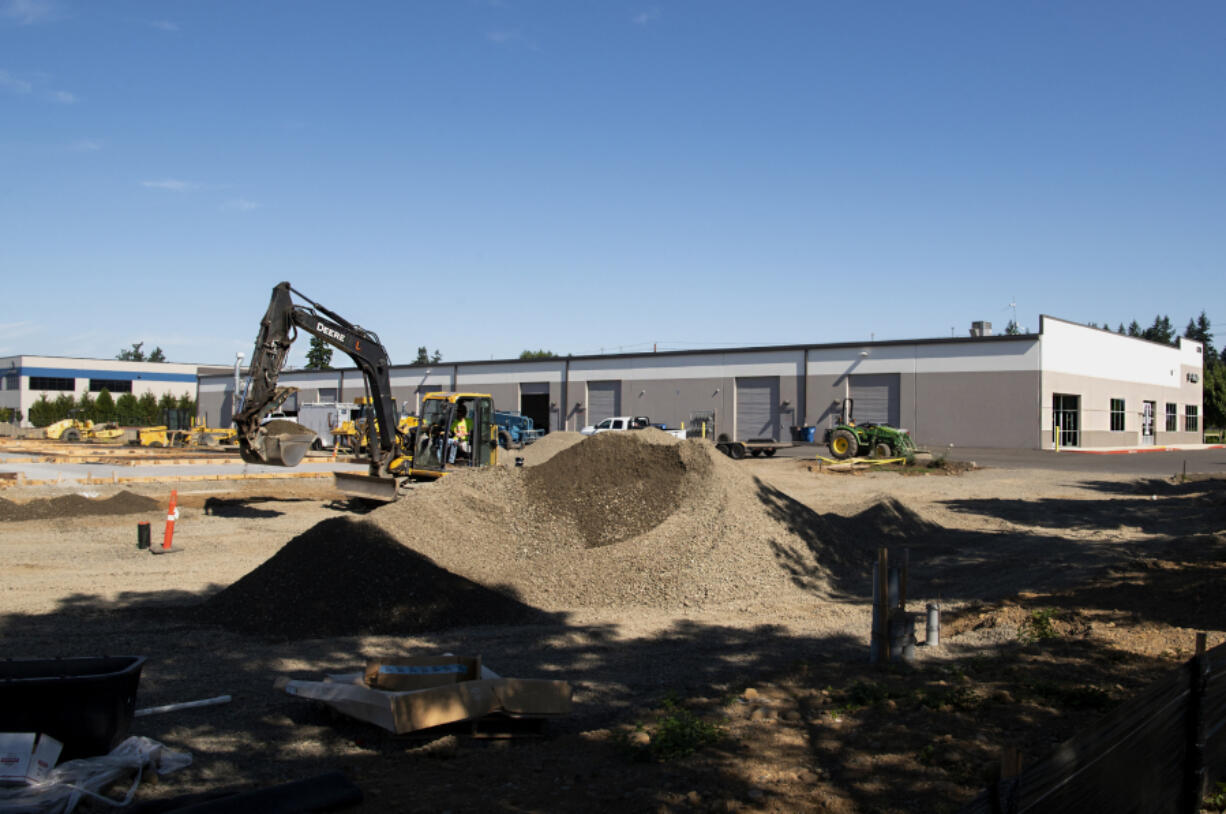 Construction is underway on an expansion of the Fourth Plain Business Park near Orchards. The overall market for industrial space has remained strong in Vancouver throughout the COVID-19 pandemic.