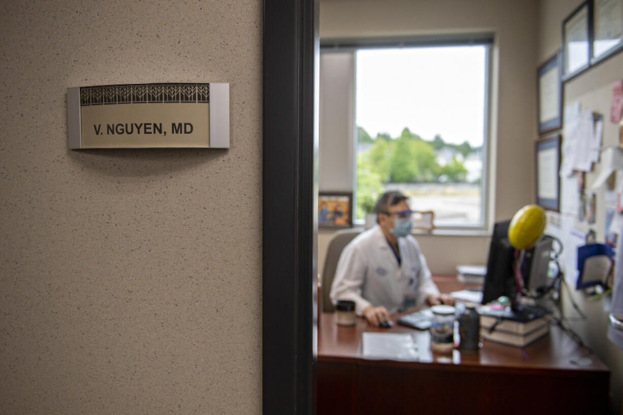 Dr. Viet Nguyen, 39, lives in Felida and has worked at Vancouver Clinic Salmon Creek as a dermatologist for six years. He started out treating skin issues in veterans.