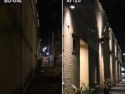 ESTHER SHORT: A previously poorly-lit corridor near West Ninth and Main streets received new lighting through a program offered by Vancouver's Downtown Association.