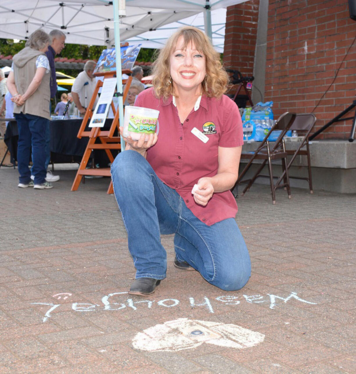 WASHOUGAL: Washougal Arts and Culture Alliance artist honoree Suzanne Grover at the 2018 Washougal Art Festival.