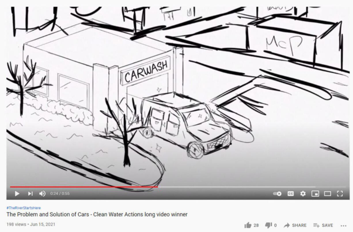 CLARK COUNTY: Melia Ballantyne won $500 for this video she created in the Clean Water Actions Long Video category of the Stormwater Partners of Southwest Washington Student Video Contest.
