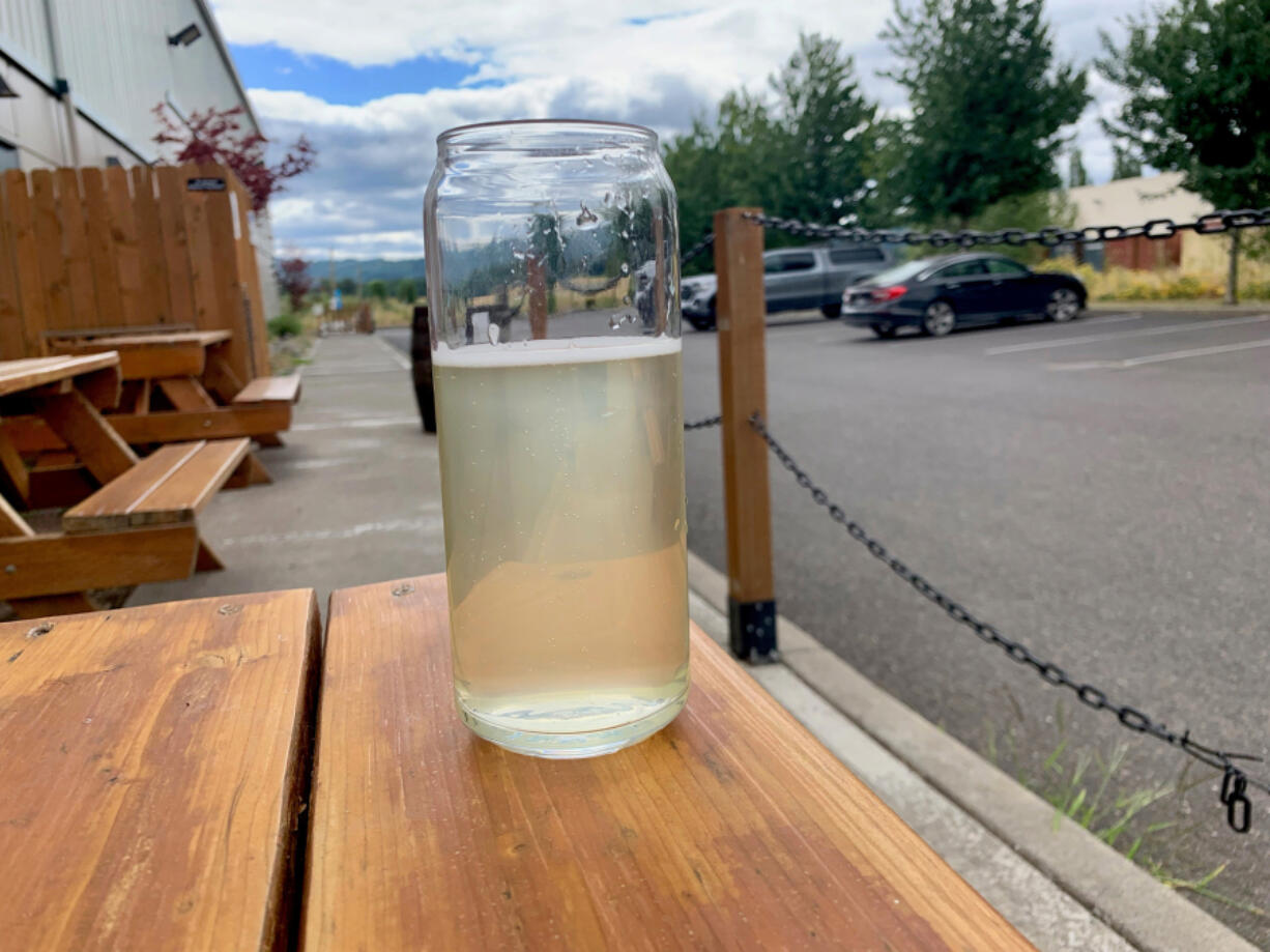 Tropic Thunder pineapple and coconut hard seltzer at 54˚40' Brewing Co.