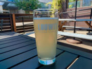 Pineapple- mango-guava hard seltzer at Loowit Brewing.