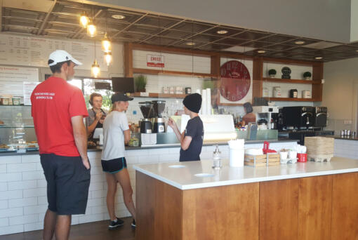 It's easy to spend a couple hours at Creed Coffee, basking in the air conditioning and enjoying craft coffee or an iced London fog with vanilla whipped cream. (Monika Spykerman/The Columbian)