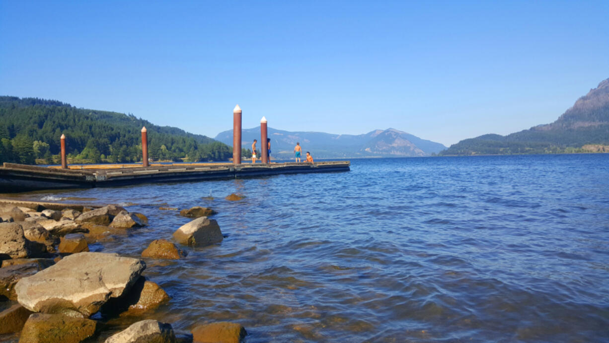 It's hard to find a better summer spot than the dock at Stevenson's Cascade Boat Launch.