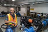Tyler Clary, manager for water systems/water engineering for the city of Vancouver's water utility, oversees a staff of eight employees. All of them help to maintain operations at Water Station 1.
