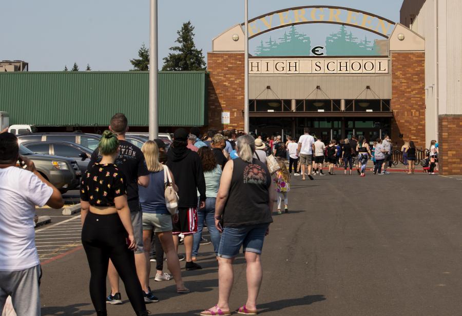 Evergreen schools surplus sale a hot commodity