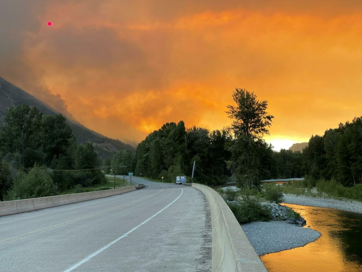 The Cedar Creek fire near Winthrop has forced evacuations of hundreds of residents.