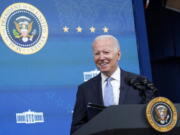 President Joe Biden speaks before signing several bills during an event in the South Court Auditorium on the White House complex in Washington, Wednesday, June 30, 2021.
