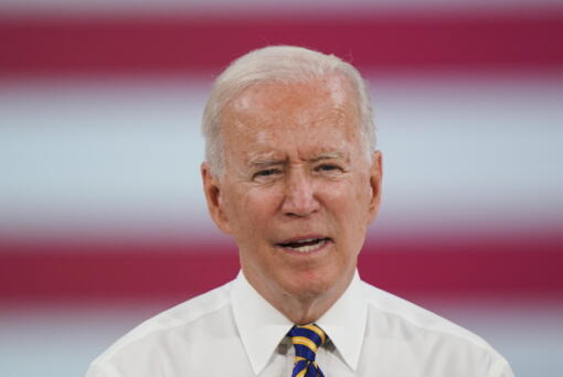 President Joe Biden speaks during a visit to the Lehigh Valley operations facility for Mack Trucks in Macungie, Pa., Wednesday, July 28, 2021.