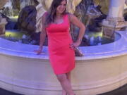 This June 1, 2021 photo provided by Liz Segel shows Estelle Hedaya at Caesars Palace in Las Vegas. Ikey Hedaya is still waiting for closure almost a month after the Surfside condo collapse. He has given his DNA, talks frequently with the medical examiner and even reluctantly visited the collapse site to see for himself what is being done to find his big sister. Fifty-four-year-old Estelle Hedaya appears to be the only missing victim yet to be identified after the June 24 collapse.