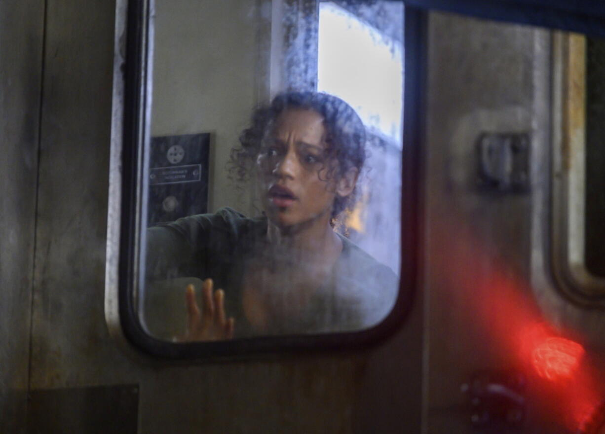 """This image released by Sony Pictures shows Taylor Russell in a scene from """"Escape Room: Tournament of Champions."""" (David Bloomer/Sony via AP) (Sony Pictures)"""
