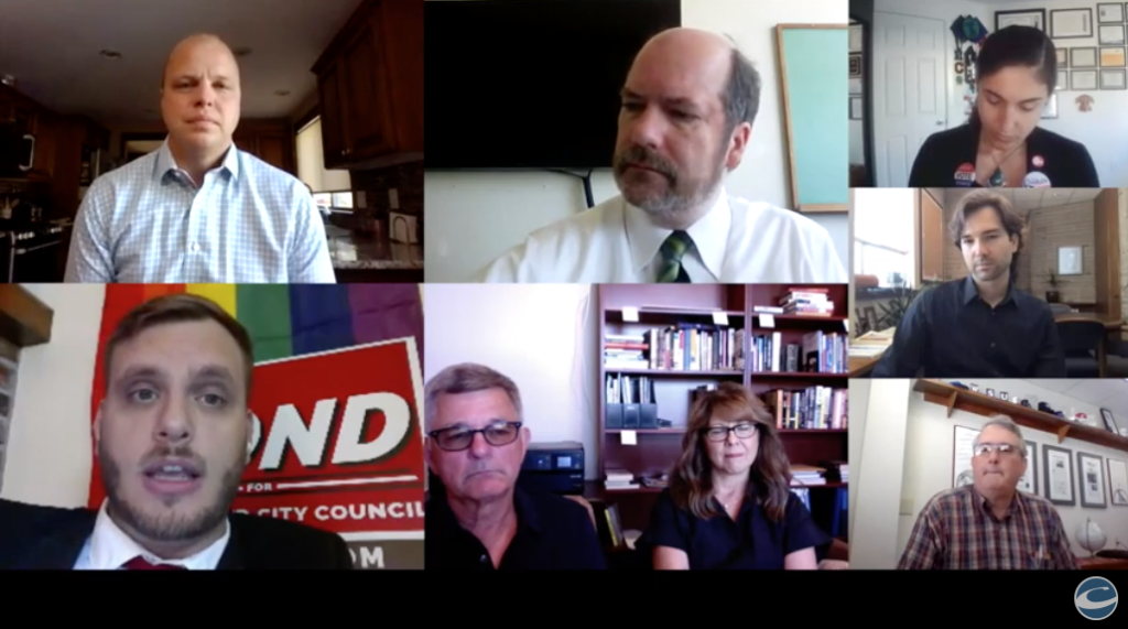 The Columbian's Editorial Board met virtually with Vancouver City Council Position 1 candidates Kim Harless, Mike Pond and John Blom on Tuesday, June 29, in Vancouver.
