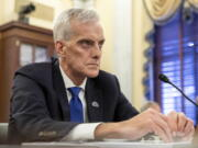 Denis McDonough, Secretary of Veterans Affairs, testifies before the Senate Committee on Veterans' Affairs on Capitol Hill in Washington on Wednesday, July 14, 2021.