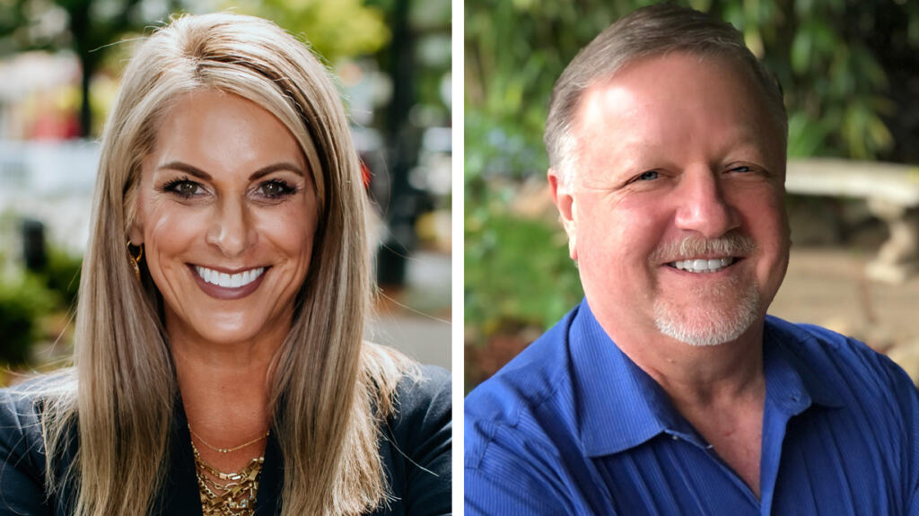 Leslie Lewallen and Gary Perman are both running for Camas City Council.