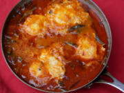 Eggs Poached in a Chile-Tomato Broth, a recipe with peppers. (Hillary Levin/St.