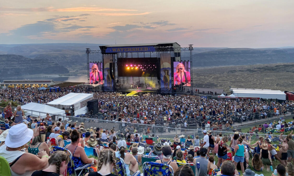 Country star Kelsea Ballerini performs at Watershed festival at the Gorge Amphitheatre in George.