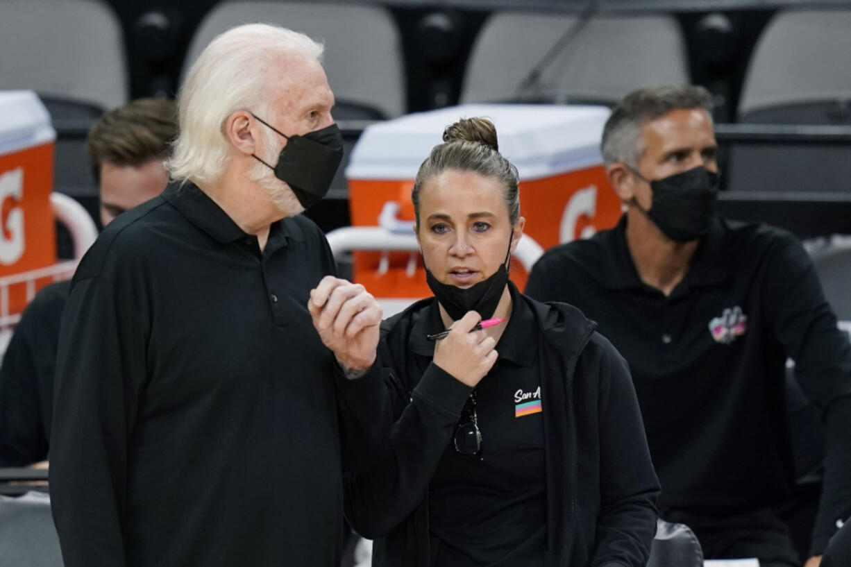 San Antonio Spurs assistant coach Becky Hammon will be entering her eighth season as an assistant and has been interviewed for several head coach positions but hasn't gotten an offer yet to be the first female to lead a NBA team.