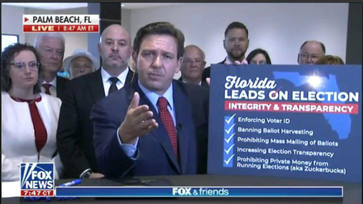 Florida Gov. Ron DeSantis signed a controversial elections law in May.