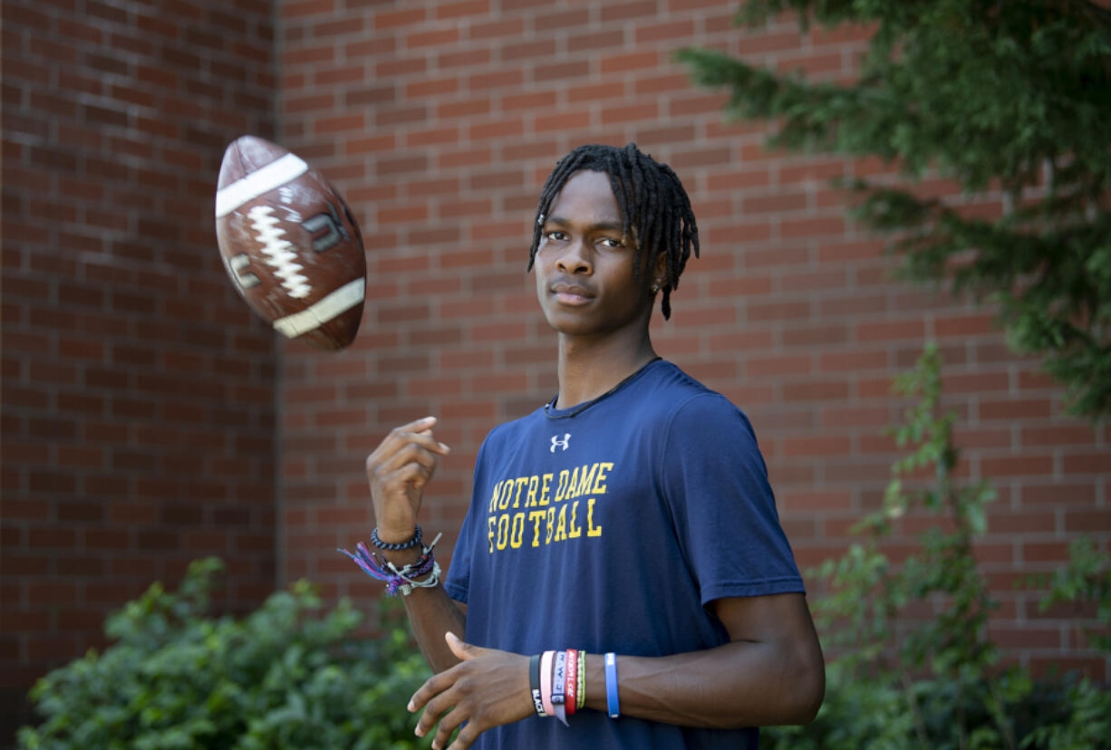 Union senior Tobias Merriweather will play college football for Notre Dame. One of the Northwest's most-prized recruits, Merriweather chose the university in part because of its world-class academic offerings.