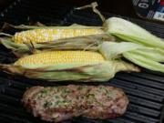 Stuffed Steak and Grilled Corn on the Cob (Linda Gassenheimer/TNS)